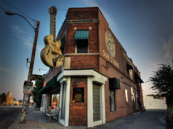 This is iconic Sun Studio in Memphis, TN. Sun Studio was opened by Sam Phillips on Jan. 3, 1950. It is considered to be the birthplace of rock-and-roll. Blues, r&b, rock-and-roll, rockabilly and country music were all recorded here during the 50s. Artists such as Elvis Presley, Johnny Cash, Jerry Lee Lewis, Carl Perkins, B.B. King and Roy Orbison have recorded here.
